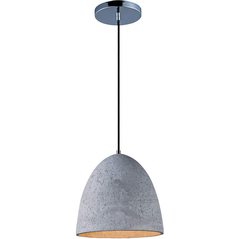 """Maxim Crete 12"""" Wide LED Large Concrete Dome Mini Pendant"""