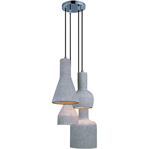"Maxim Crete 15 3/4""W Concrete Multi-Light LED Pendant"