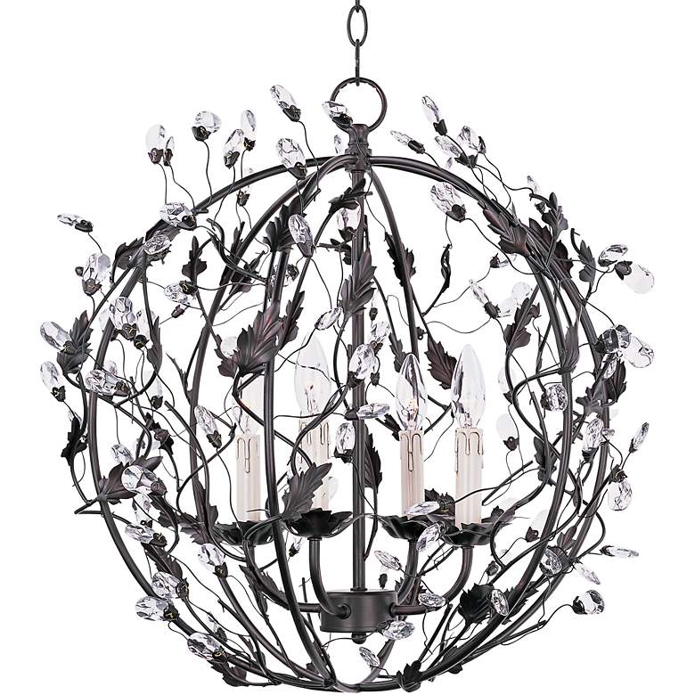 "Maxim Elegante 22""W Bronze Ball 4-Light Entry Pendant"
