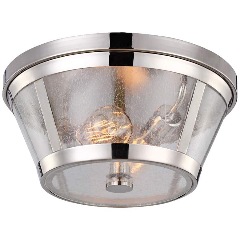 "Feiss Harrow 13 3/4"" Wide Polished Nickel Ceiling Light"