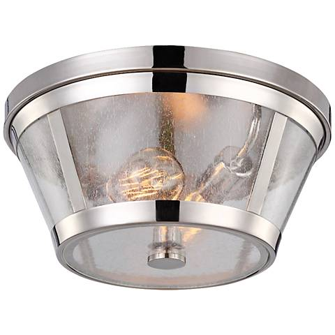 "Feiss Harrow 13 3/4"" Wide Polished Nickel Ceiling Light"