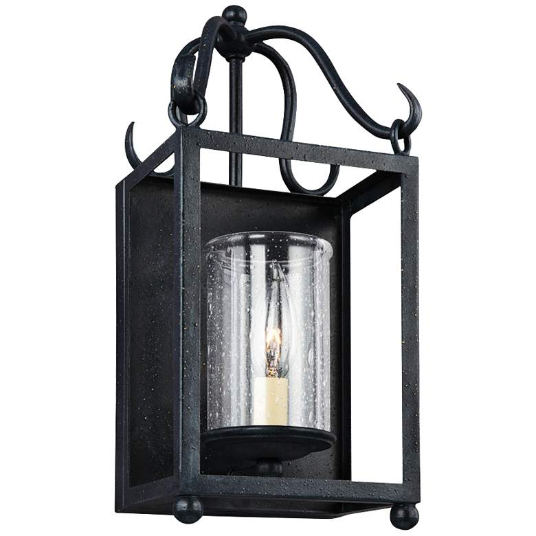 """Declaration 15"""" High Antique Forged Iron Wall Sconce"""
