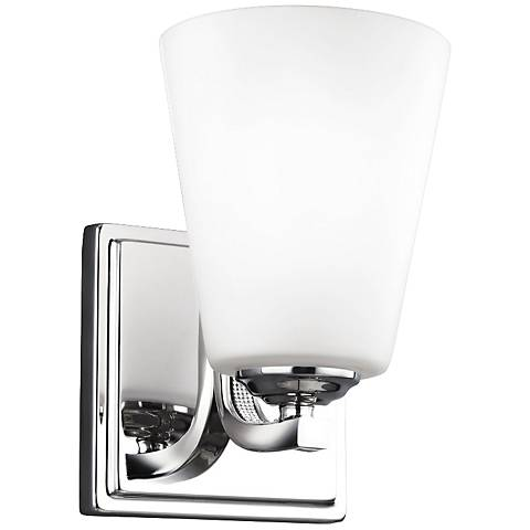 """Feiss Pave 7 3/4"""" High Polished Nickel Wall Sconce"""