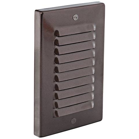 Vertical Indoor/Outdoor Bronze Louvered LED Step Light