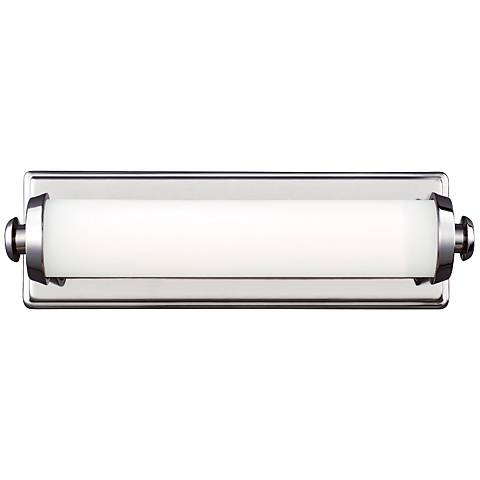 """Edgebrook 15"""" Wide Polished Nickel LED Wall Sconce"""