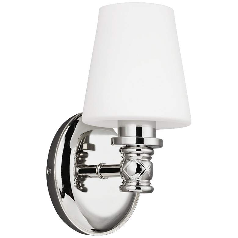 """Feiss Xavierre 10 1/4"""" High Polished Nickel Wall Sconce"""