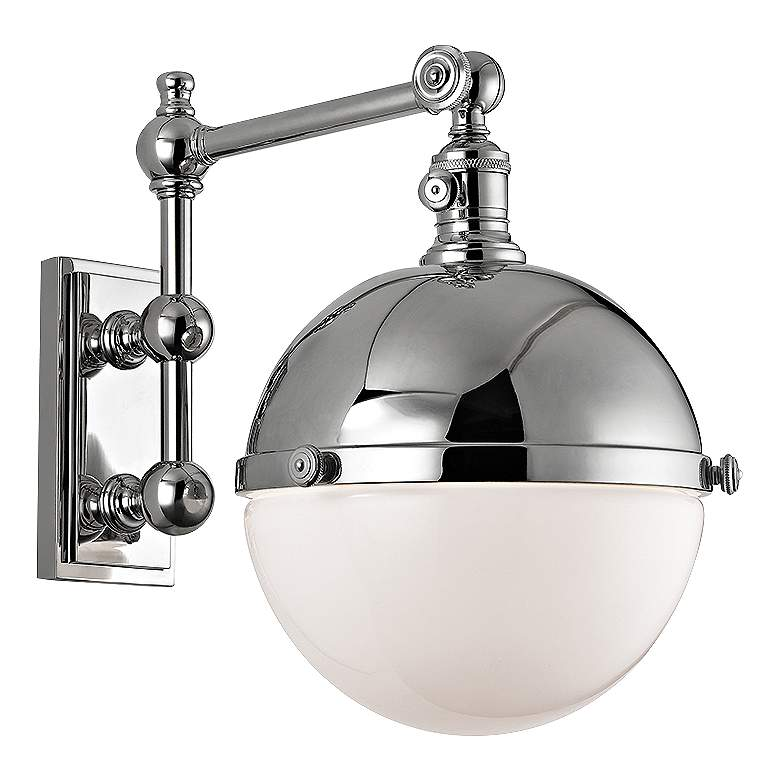 "Hudson Valley Stanley Polished Nickel 14"" High Wall Lamp"