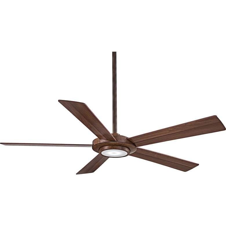 "52"" Minka Aire Sabot Distressed Koa LED Ceiling Fan"