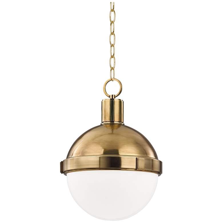 "Hudson Valley Lambert 9 1/2"" Wide Aged Brass Mini Pendant"