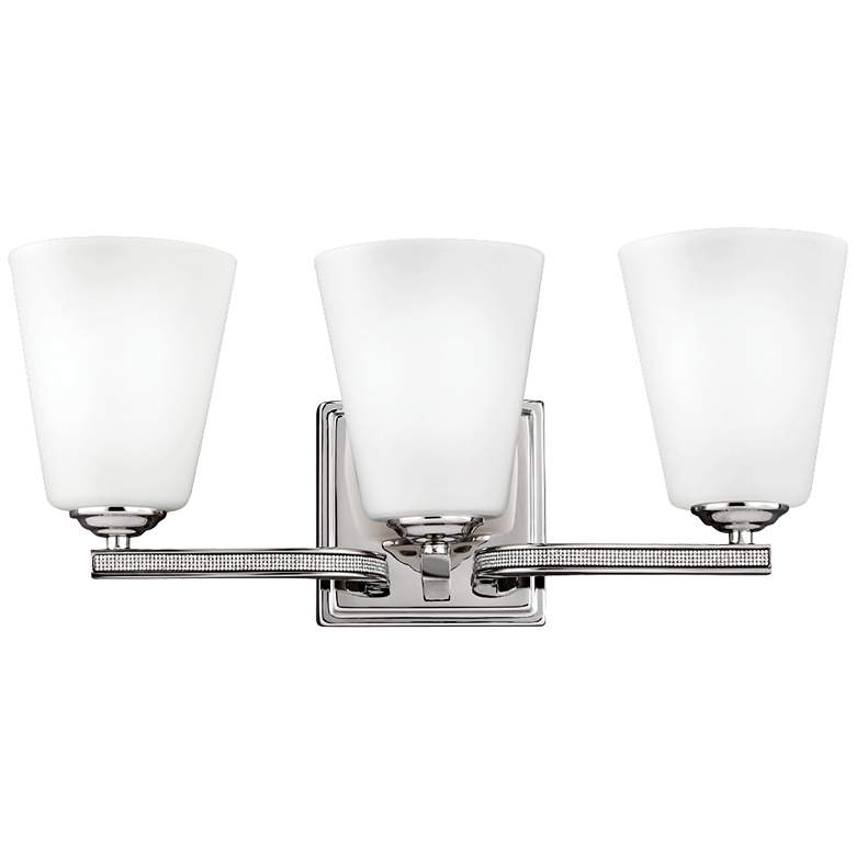 """Feiss Pave 18"""" Wide Polished Nickel Bath Light"""