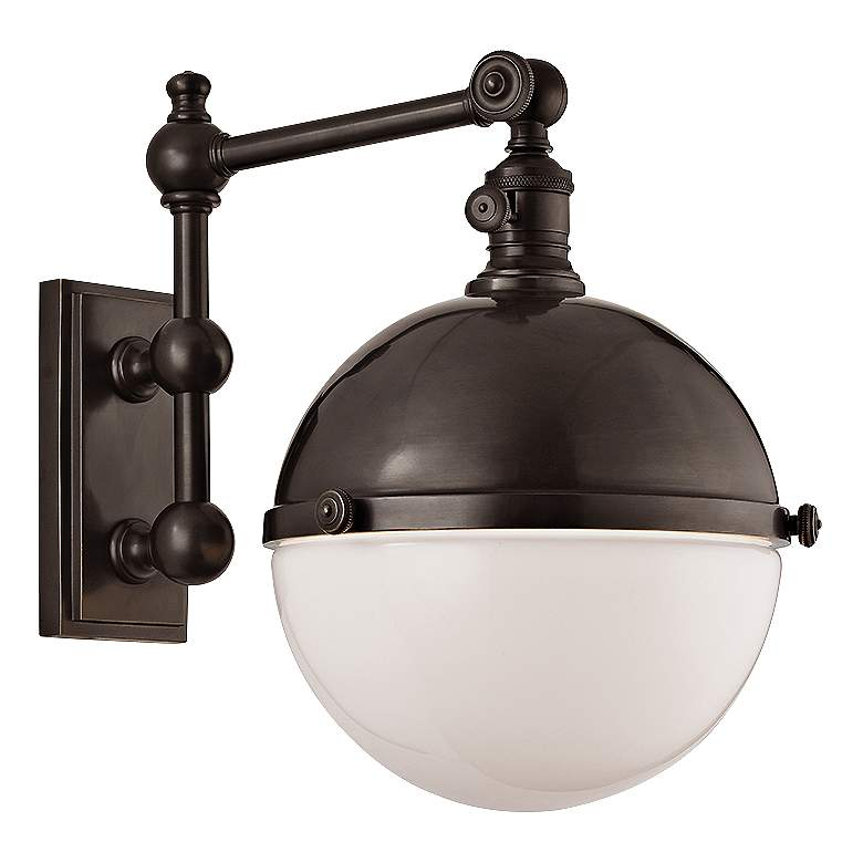 "Hudson Valley Stanley Old Bronze 14"" High Wall Lamp"