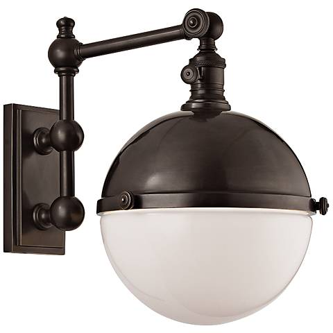"""Hudson Valley Stanley Old Bronze 14"""" High Wall Lamp"""
