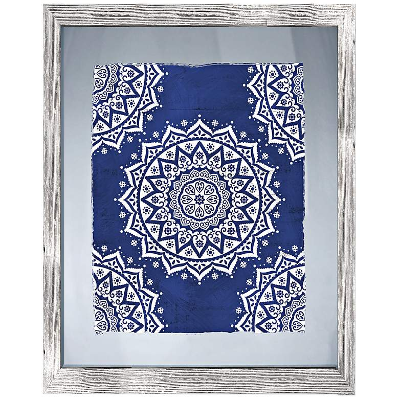"""Boho Pattern II 26"""" High Framed Giclee Wall"""