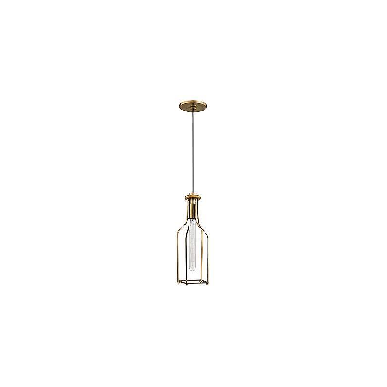 "Hudson Valley Colebrook 4 1/2""W Open Brass Mini Pendant"