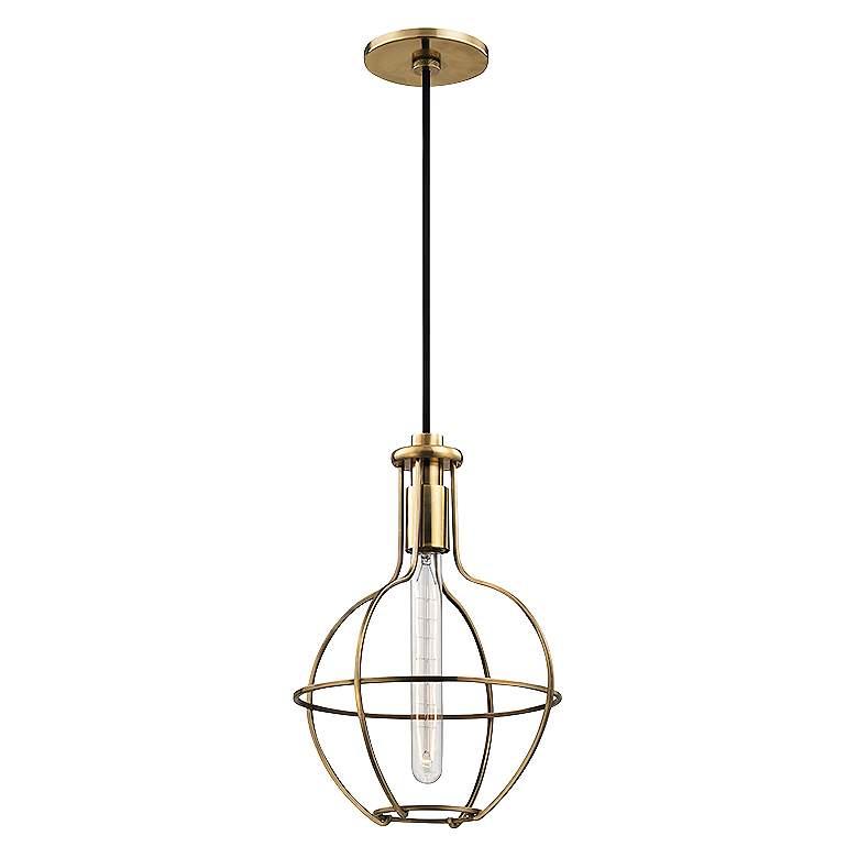 "Hudson Valley Colebrook 10"" Wide Open Brass Mini Pendant"