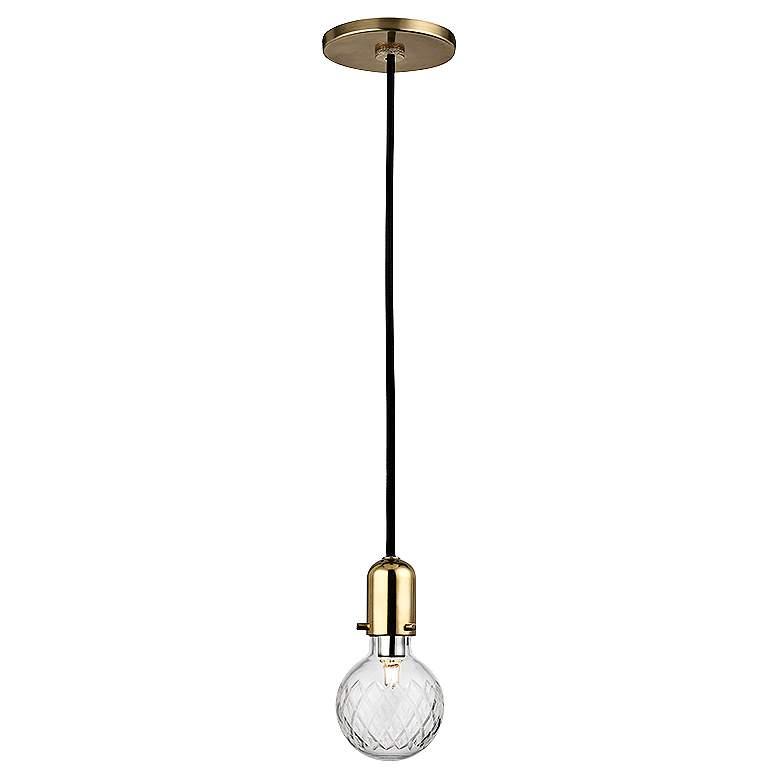 "Hudson Valley Marlow 3 1/2""W Brass Mini Pendant"