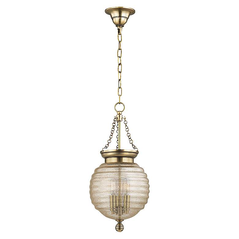 "Hudson Valley Coolidge 10""W Aged Brass 3-Light Mini Pendant"