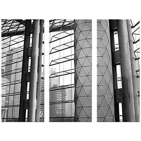 """Architectural Triptych 17 1/2""""x42"""" Set of 3 Canvas Wall Art"""