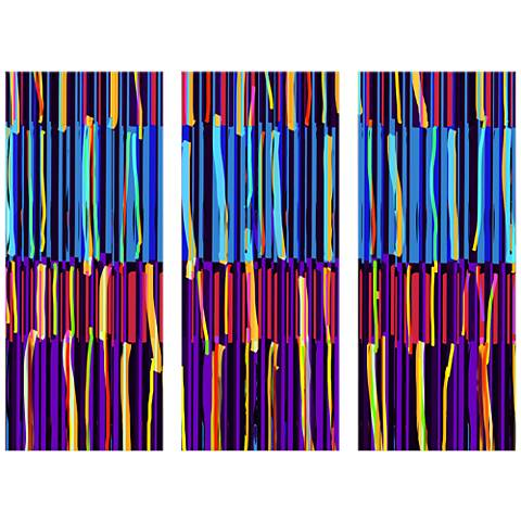 Stripes Triptych 17 1/2\
