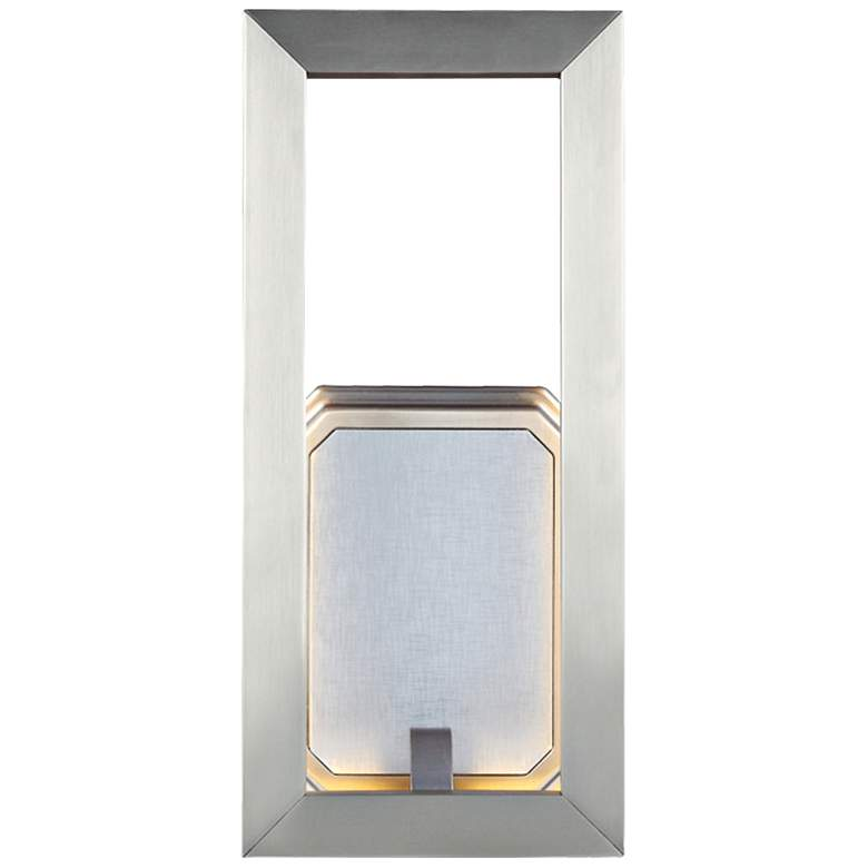 "Feiss Khloe 12"" High Satin Nickel LED Wall"