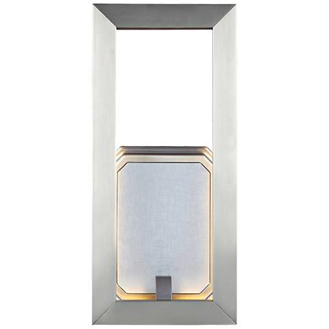 "Feiss Khloe 12"" High Satin Nickel LED Wall Sconce"