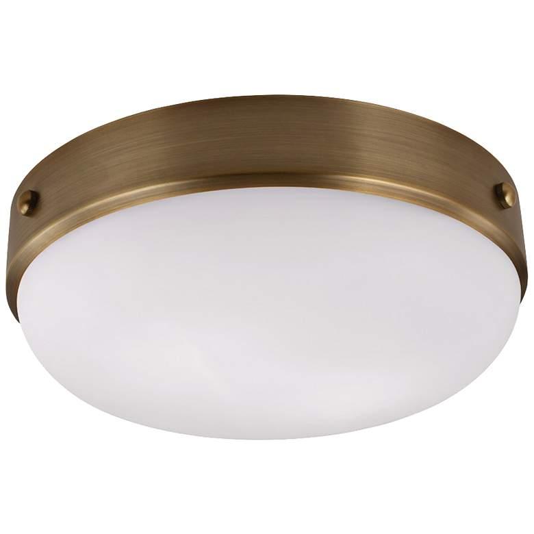 "Feiss Cadence 13"" Wide Dark Antique Brass Ceiling Light"