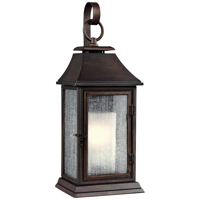 """Feiss Shepherd 25 1/2"""" High Copper Outdoor Wall Light"""