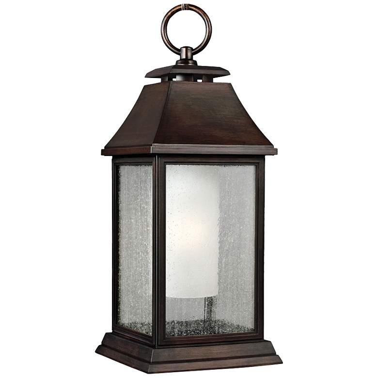 """Feiss Shepherd 21""""H Copper Outdoor Hanging Light"""