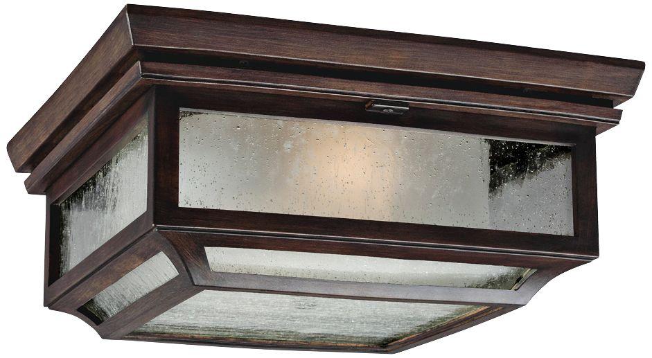 Feiss Shepherd 13  sc 1 st  L&s Plus & Outdoor Flush Mount Lighting - Fixtures for Patio or Porch | Lamps Plus