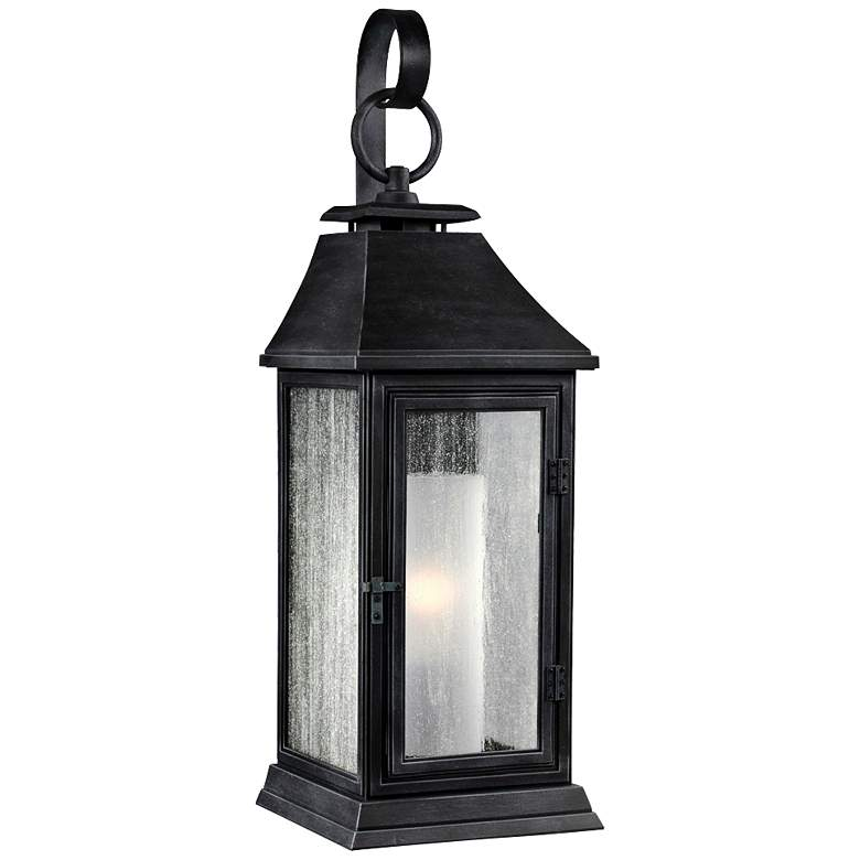 "Feiss Shepherd 16 1/2""H Weathered Zinc Outdoor Wall Light"
