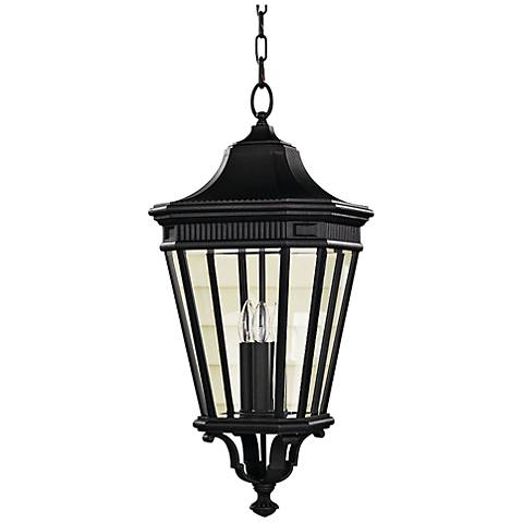 "Feiss Cotswold Lane 26 1/2"" High Black Outdoor Hanging Light"