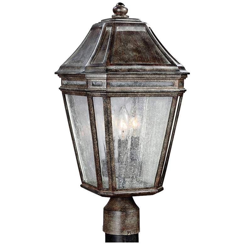 "Feiss Londontowne 19 1/2""H Chestnut Outdoor Post Light"