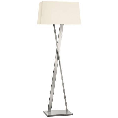 Sonneman X Satin Nickel Modern Floor Lamp