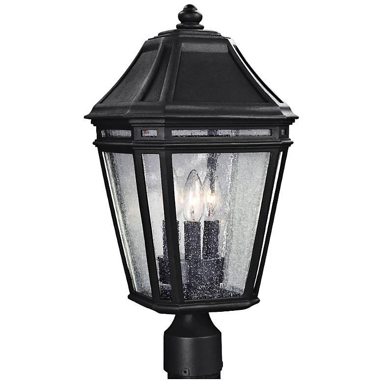 """Feiss Londontowne 19 1/2"""" High Black Outdoor Post Light"""