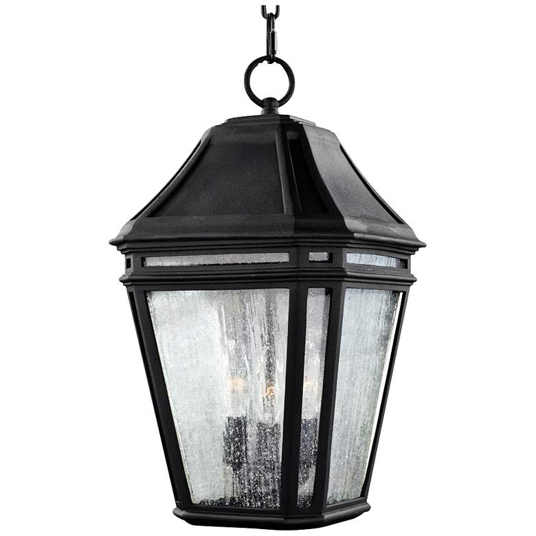 "Feiss Londontowne 17 1/4""H Black Outdoor Hanging Light"