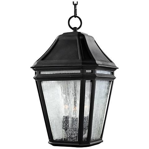 "Feiss Londontowne 17 1/4""H Black Outdoor Hanging Light"
