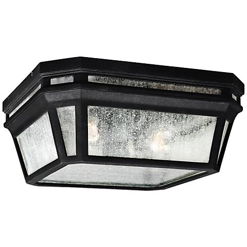"Feiss Londontowne 11 3/4"" High Black Outdoor Ceiling Light"