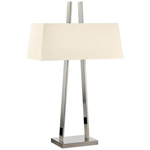 Sonneman A Polished Nickel Modern Table Lamp