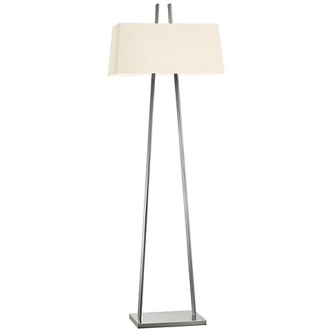 Sonneman A Satin Nickel Modern Floor Lamp