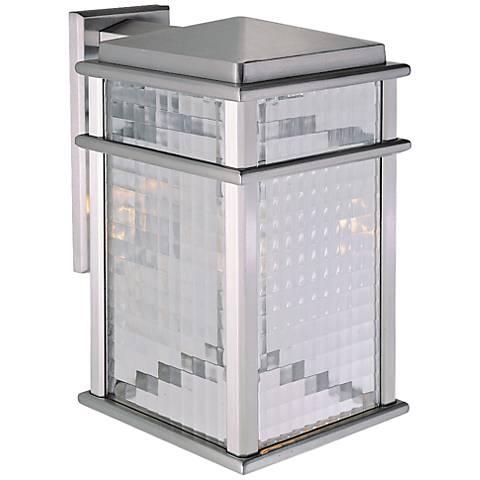 "Mission Lodge 15""H Aluminum Lantern Outdoor LED Wall Light"