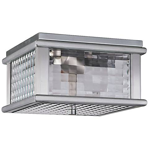 "Mission Lodge 9""W Aluminum Outdoor LED Ceiling Light"