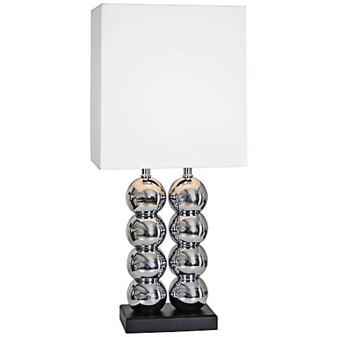 Van Teal Two's World Chrome Stacked Globe Table Lamp