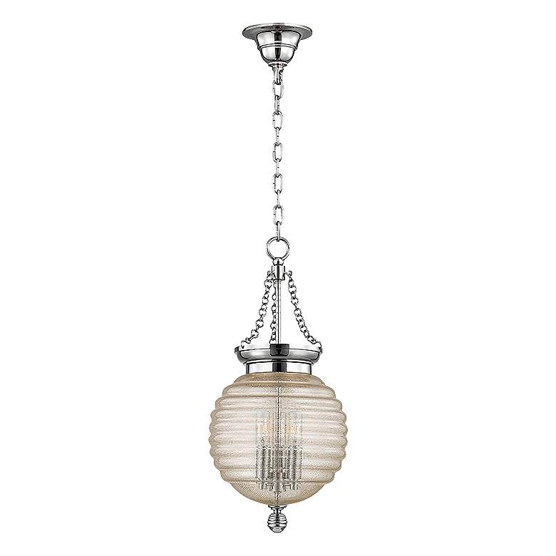 "Hudson Valley Coolidge 10"" Wide Ribbed Glass Mini Pendant"