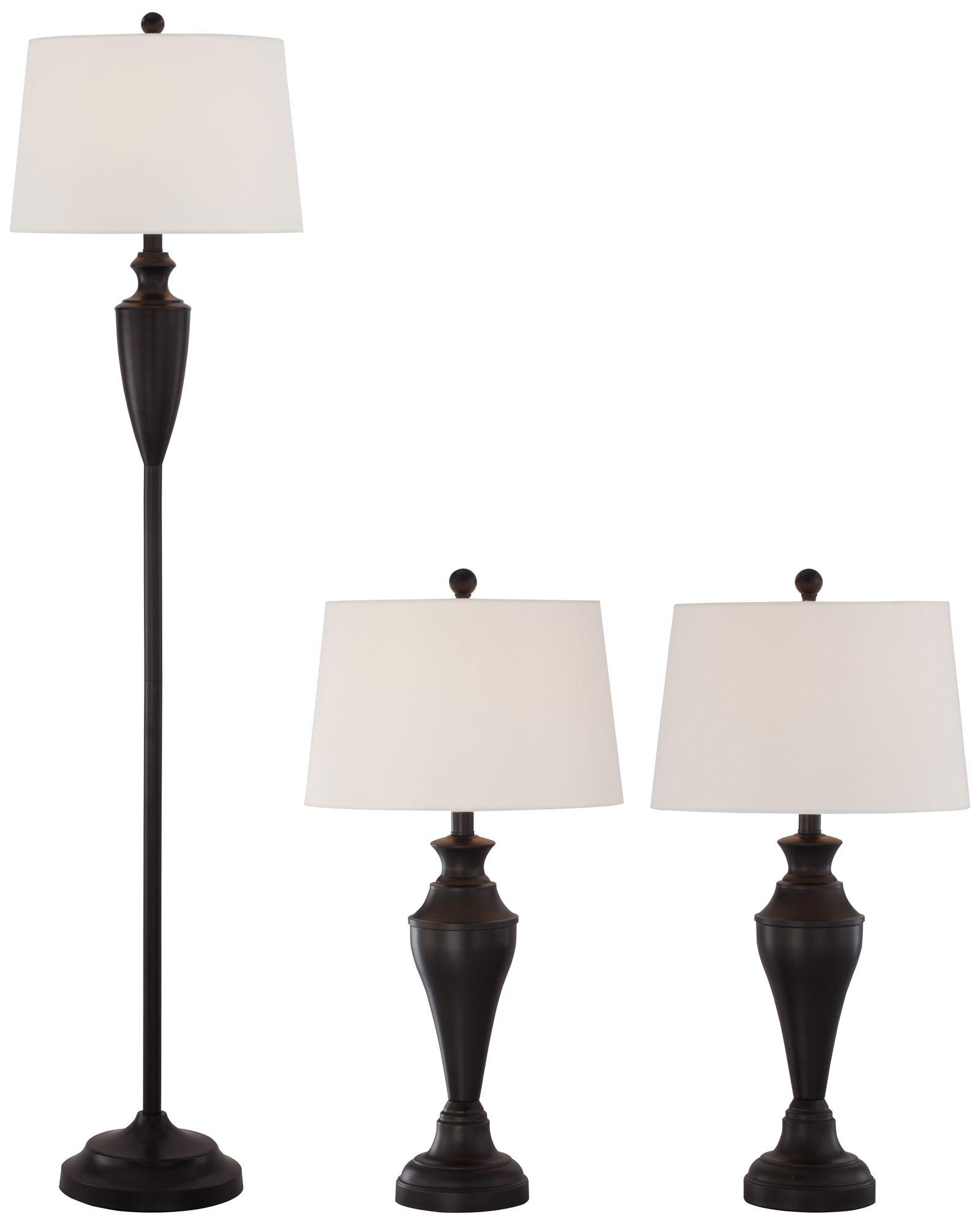 Denny Bronze 3-Piece Floor and Table L& Set  sc 1 st  L&s Plus & Floor Lamp Sets - Matching Table \u0026 Floor Designs | Lamps Plus