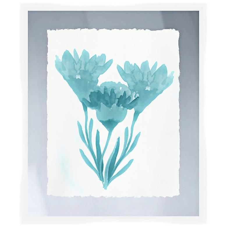 """Blue Bouquet I 26"""" High Framed Wall Art"""