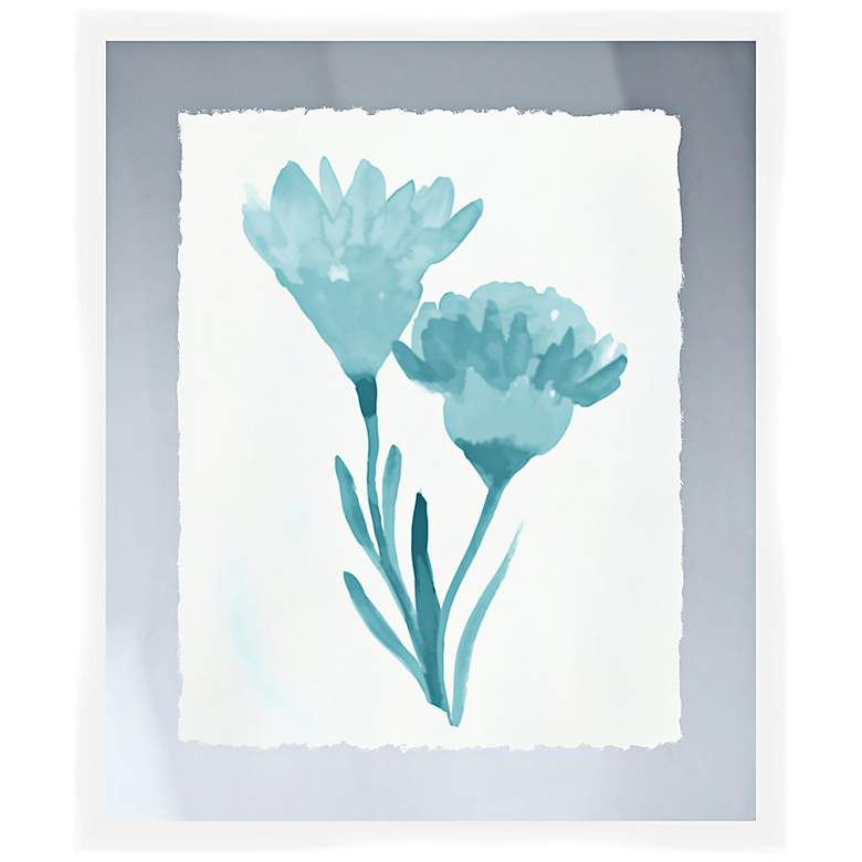 "Blue Bouquet II 26"" High Framed Wall Art"