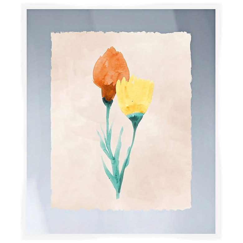 """Bright Bouquet I 26"""" High Framed Wall Art"""