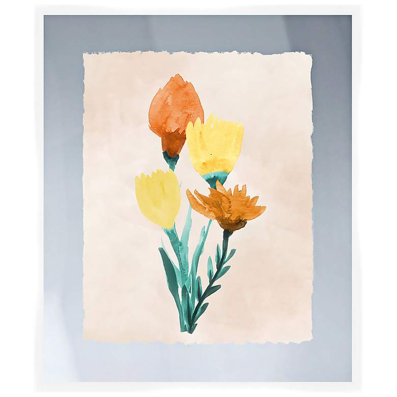 "Bright Bouquet II 26"" High Framed Wall Art"