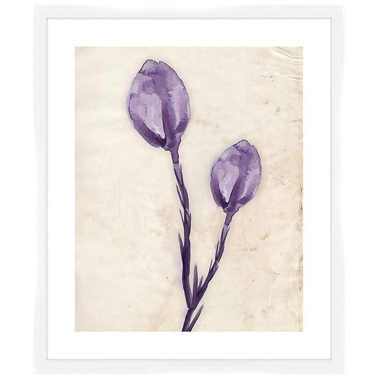 "Purple Watercolor Flowers I 26 1/2"" High Framed"