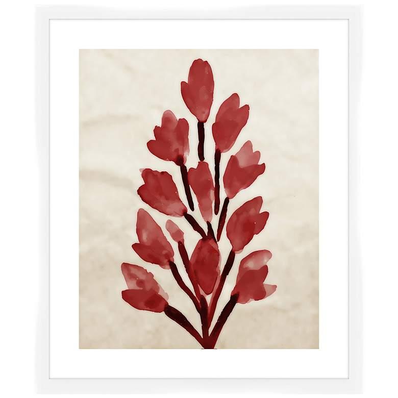 """Crimson Bouquet I 26 1/2"""" High Framed Wall Art"""